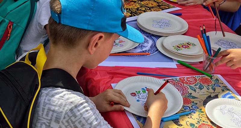 Занятие по декоративно-прикладному искусству для детей