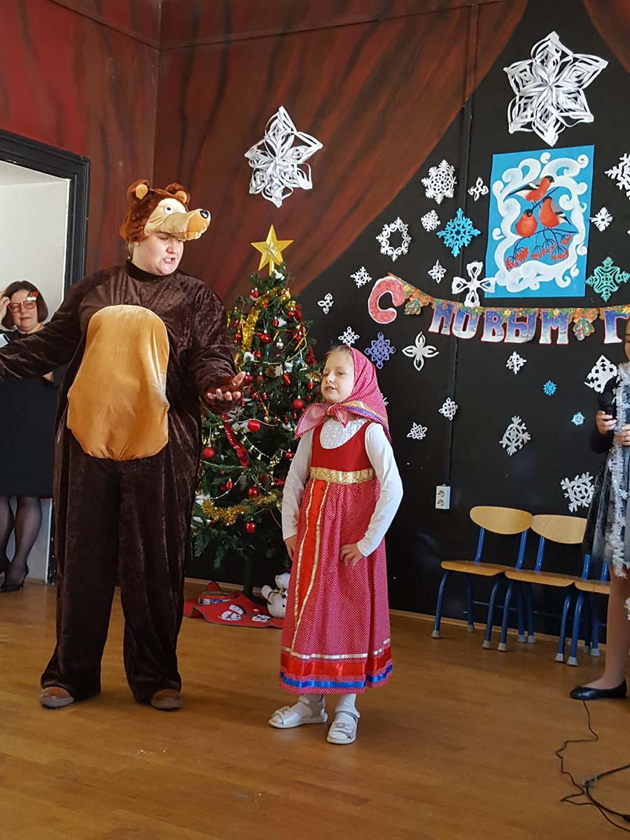 Маша и медведь в школе «Алфавит»